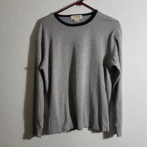 100%cotton gray long sleeve shirt